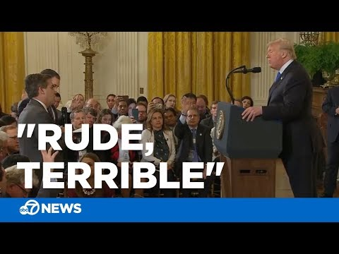 "Trump calls CNN's Jim Acosta a ""rude, terrible"" person"