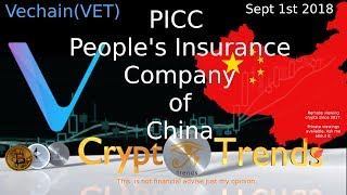 VET Vechain - One of the world's largest insurers - PICC partnership.