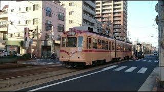 ⚠広島電鉄3000形3004号 宇品五丁目発車