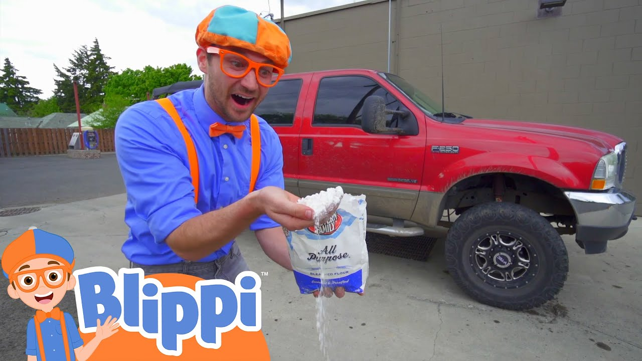Blippi Washes A Truck! | Vehicles For Kids | Educational Videos For Toddlers