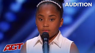 Victory Brinker: Shy Nervous 9-Year-Old SHOCKING Voice!  Gets First Ever Group GOLDEN BUZZER!