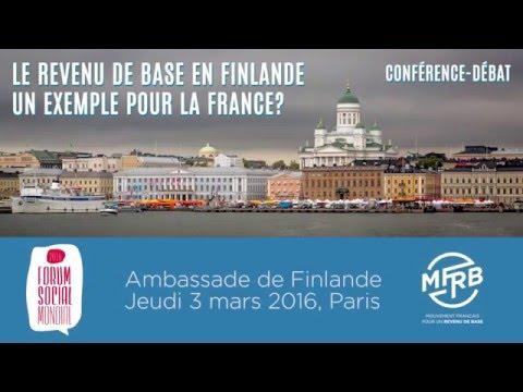 """Conférence : """"Le revenu de base en Finlande : un exemple pour la France ?"""" - MFRB"""