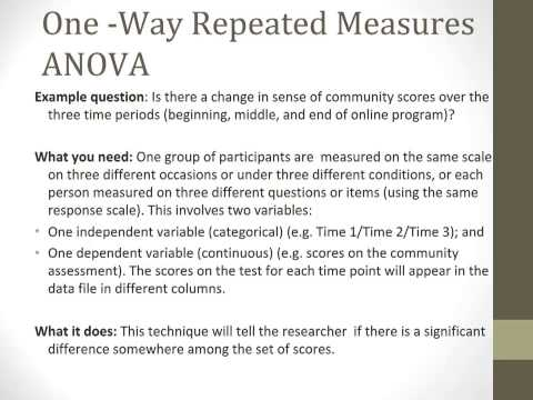 An ANOVA and MANOVA Overview Tutorial
