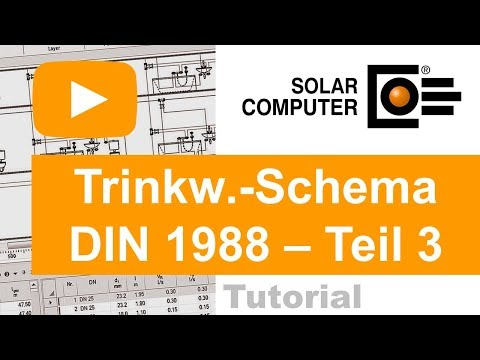 Trinkwasser DIN 1988-300 inkl. Schema-Editor TEIL 3 (Berechnung und Meldungen)