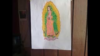 Dibujo Virgen De Guadalupe Y Su Historia By Rockvan 7guitar