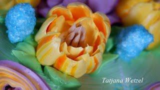 Тюльпан из крема. cream Tulip(техника выполнения крупного тюльпана из белково заварного крема насадкой 402, большая улыбка . открытие 18 мм., 2016-04-07T07:35:56.000Z)