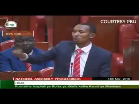 Painful moving speech by jicho pevu in the parliament