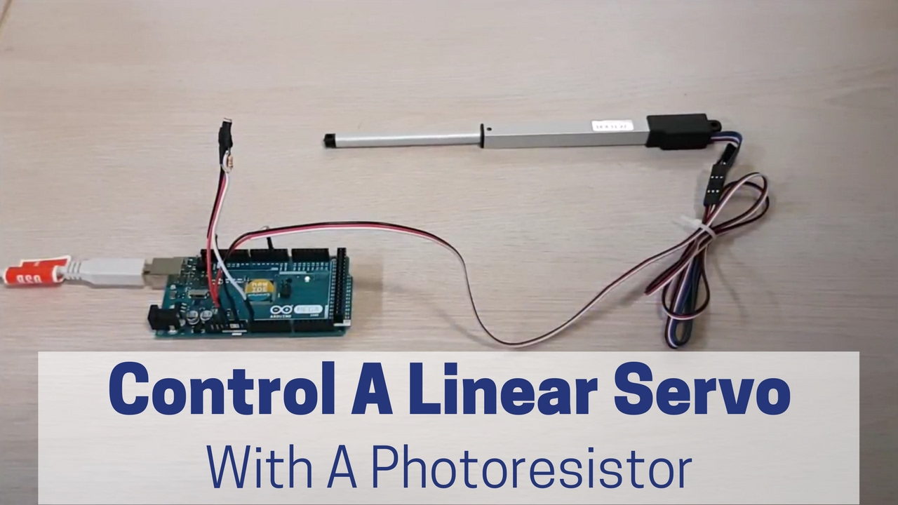 arduino linear actuator control using a photocell actuonix motion devices [ 1280 x 720 Pixel ]