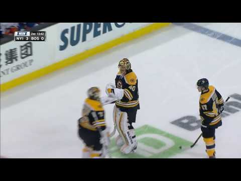 Rask gets pulled after allowing 3 goals on 13 shots