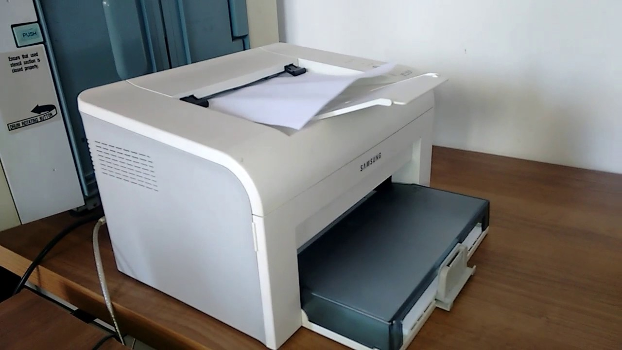 Impressora Samsung ml 1610 - YouTube