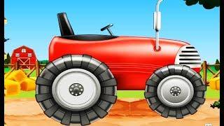 Мультики про машинки.ТРАКТОРЫ. Учим транспорт - мультики про трактор ПОДРЯД!