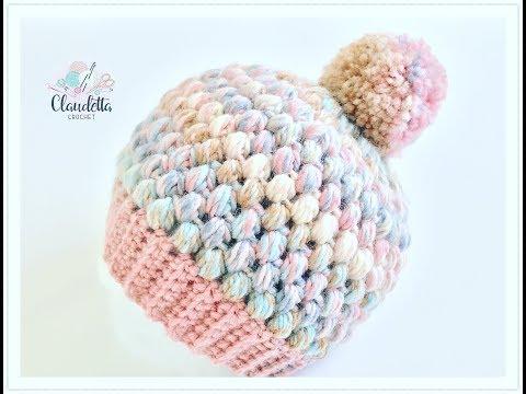 Einfache Mütze häkeln aus Büschelmaschen / Tolle Wintermütze häkeln