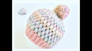 Einfache Mütze häkeln aus Büschelmaschen / Tolle Wintermütze häkeln thumbnail