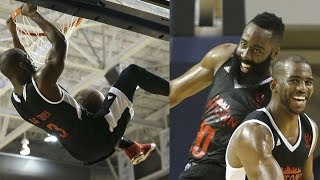 Chris Paul & James Harden Connect on Alley-Oop During Charity Game