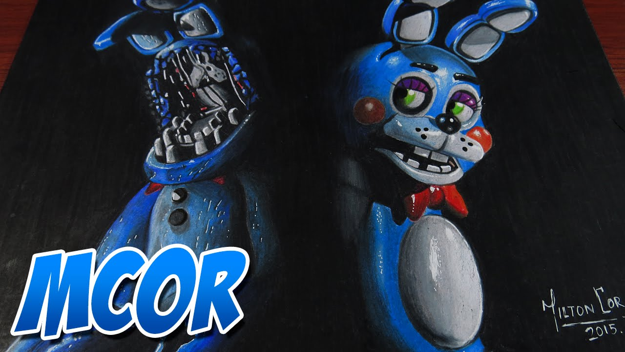 Dibujando A Toy Bonnie Y Old Bonnie Five Nights At Freddys 2