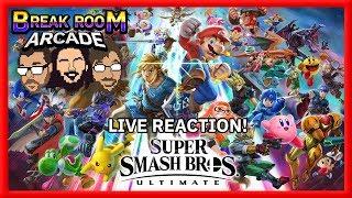 FULL Super Smash Bros. Ultimate LIVE REACTION! | Break Room Arcade