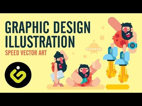 Graphic Design Illustration, Speed Vector Art Tutorial In Adobe Illustrator