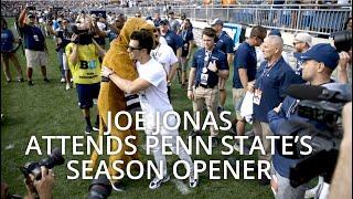 Joe Jonas shows up to Penn State for their season opener