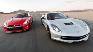 2014 Chevy Corvette Stingray vs 2014 Nissan GT-R | Track Tested