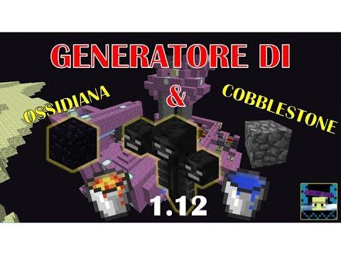[PRIMA SU YT ITALIA] Generatore (Farm) di Ossidiana e Cobblestone con Wither 1.12 [ITA]
