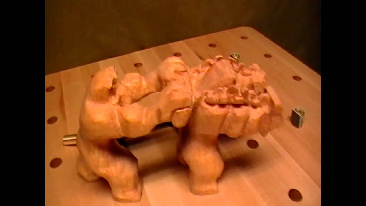 Trolls carving lord of the rings youtube for How to carve a wooden ring