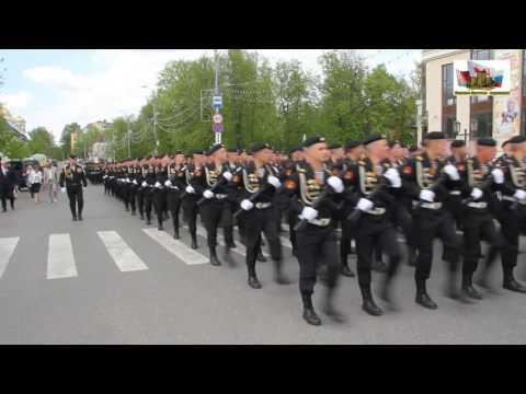 Марш тельняшек в  Подмосковном Звенигороде 10 мая 2016 года. Морское братство-нерушимо!