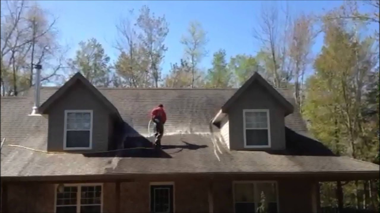 Black Roof Stain Removal Ontario Canada Youtube