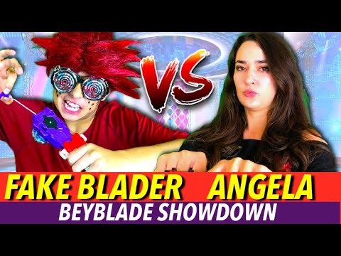 Beyblade Burst | Fake Blader vs Angela | Beyblades Showdown
