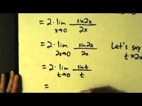 Calculus I Limits Special Trig Limits Examples 1 And 2 Youtube