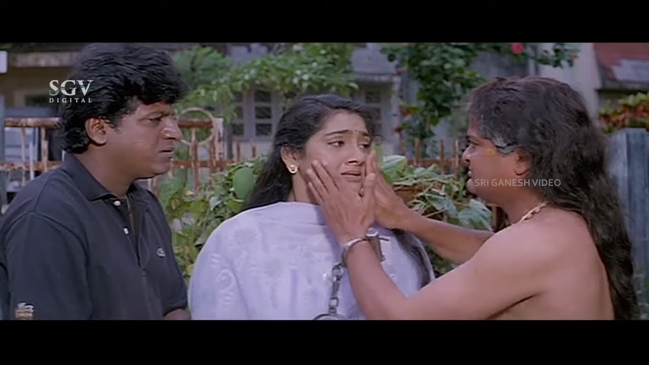 Professor Dies While Saving Shivarajkumar from terrorist | Ambika | Sarath Babu | Janumadatha Movie