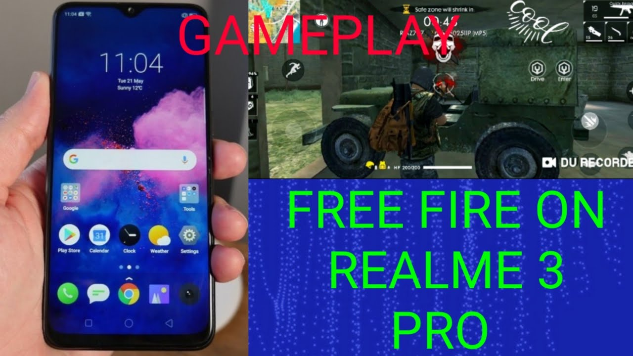 Free Fire Game On Real Me 3 Pro Mobile Freefire Gameplay By Daranak Gaming