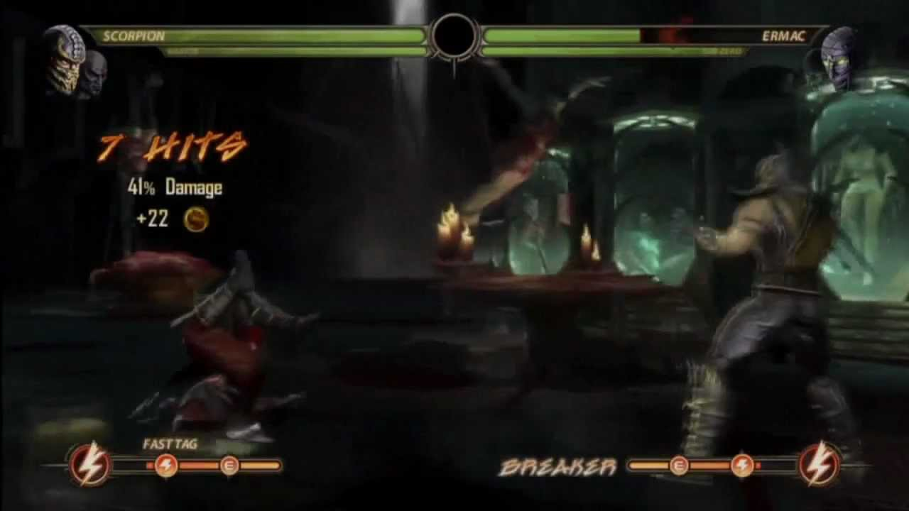 Mortal Kombat 9 - Kratos vs Scorpion - YouTube