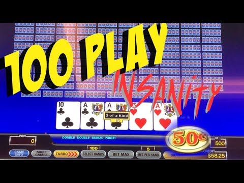 100 Play Video Poker 2018 (Live Play)