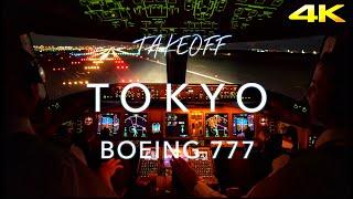 Tokyo Takeoff | B777 CockpitView 4K thumbnail
