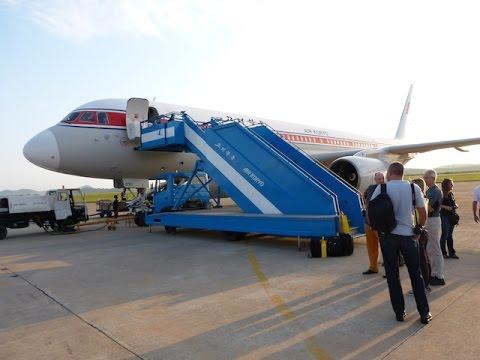 Air Koryo Tu 204 Approach Landing Fnj Pyongyang Sunan Airport