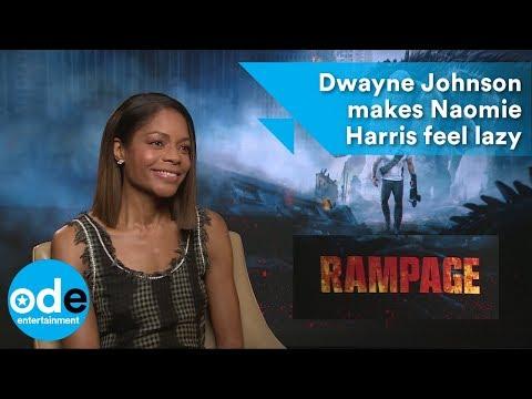 Rampage: Dwayne Johnson makes Naomie Harris feel lazy