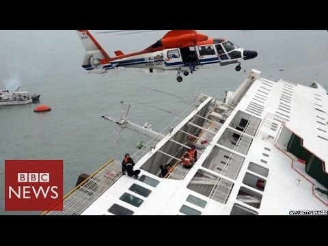 South Korea ferry carrying 450 people sinks - BBC News