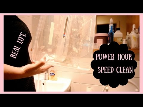 SPEED CLEAN WITH ME || REAL LIFE MESSY HOME || POWER HOUR