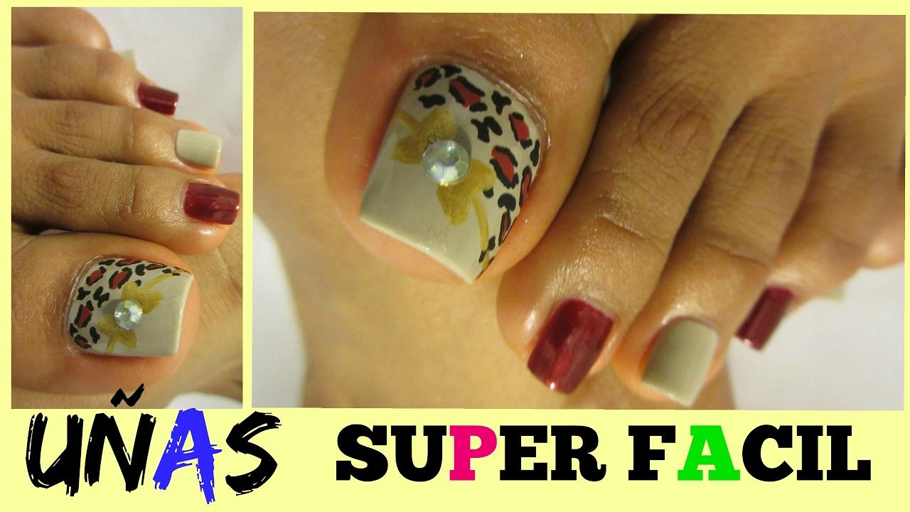 Uñas de los pies Tendencias fáciles de hacer/Cute easy ...