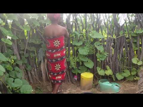 Namibian Village Life: Taking a bath and using the (bush) Toilet thumbnail