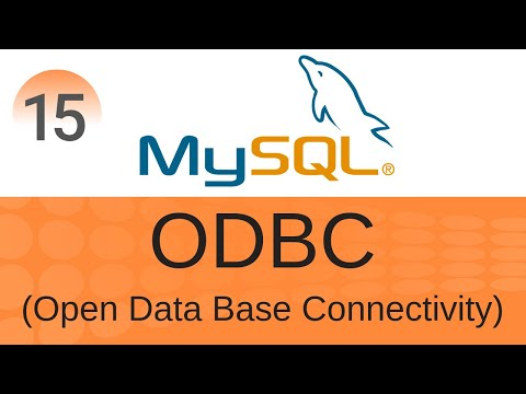 sql-tutorial-15:-odbc- -open-database-connectivity-with-mysql