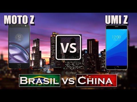 UMI Z vs MOTO Z [BRASIL VS CHINA]
