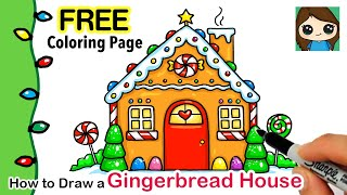 How to Draw a Gingerbread House | Christmas Series #8