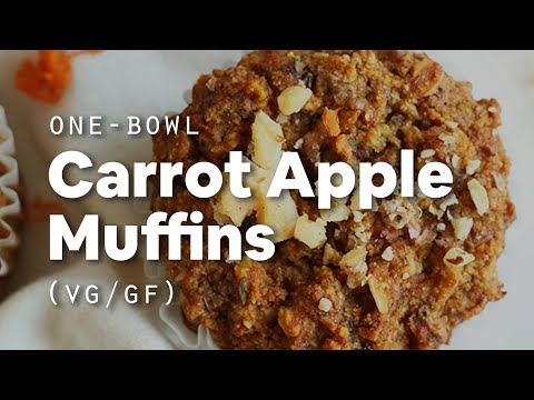1-Bowl Carrot Apple Muffins (Vegan + GF) | Minimalist Baker Recipes