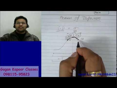 Measures of Dispersion  Simple Standard Deviation  class 1