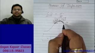 Measures of Dispersion  Simple Standard Deviation  class 1