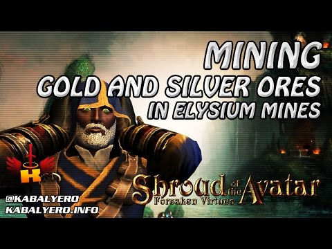 Mining Gold And Silver Ores In Elysium Mines (3/25/2017) 🎮 Shroud Of The Avatar Gameplay
