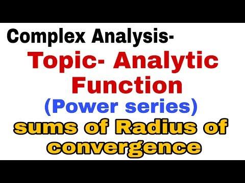 B.SC[MATHS]COMPLEX ANALYSIS - POWER OF SERIES (radius Of Convergence) @MATHSLOGY