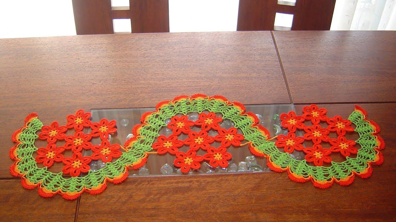 camino de mesa de margaritas a crochet paso a paso parte 12 - Caminos De Mesa