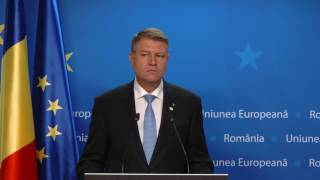 Declaratia Presedintelui Klaus Iohannis dupa Consiliul European 23.06.2917